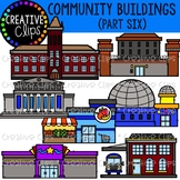 Community Buildings 6 {Creative Clips Clipart}