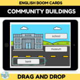 Community Buildings Boom Cards for Distance Learning