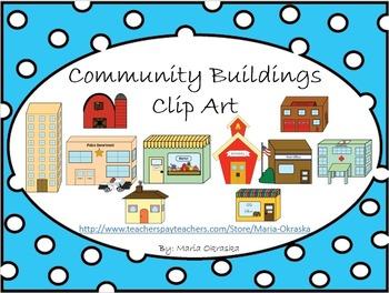 Community Buildings Clipart