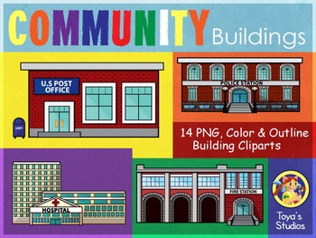 Community Buildings Cliparts-Places in your Town