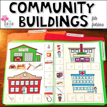 Community Buildings File Folders {Associations & Classifying}