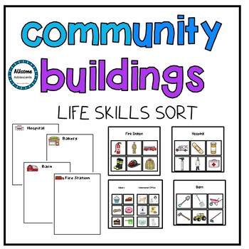 Community Buildings Life Skills Independent Work Sorts