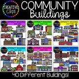 Community Buildings Mega Bundle {Creative Clips Clipart}