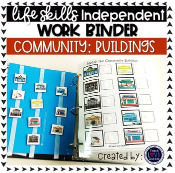 Community Buildings ONLY Independent Work Tasks