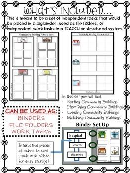 Community Buildings ONLY Work Tasks or File Folders