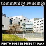Community Buildings Posters | Social Studies Display | Community Vocabulary