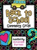 Community Circle (Morning Class Building Routine)
