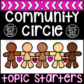 Community Circle Topic Task Card Topics