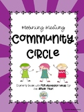 Community Circles - Morning Meetings with Discussion Start