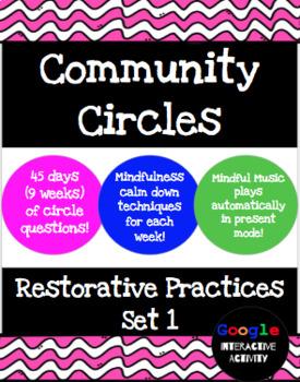 Community Circles, Restorative Practice - Set 1