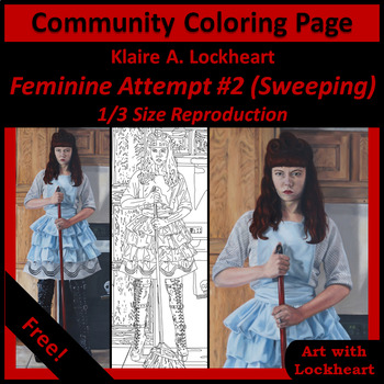 Community Coloring Page Feminine Attempt #2 by Klaire Lockheart (Small)