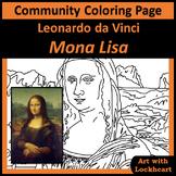 Community Coloring Page: Mona Lisa by Leonardo da Vinci