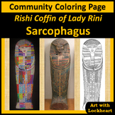 Community Coloring Page Rishi Coffin of Lady Rini Sarcophagus
