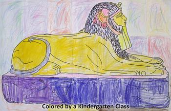 Community Coloring Page: Sphinx of Hatshepsut