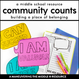 Community Counts:  Classroom Community for Middle School