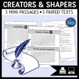 Community Creators and Shapers Reading Passages