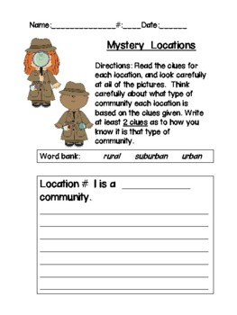 Community Detective: Learning About Urban, Suburban, and Rural Communities