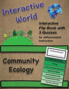 Community Ecology Interactive Flip Book with Quizzes