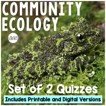 Community Ecology Quiz or Homework Review Worksheet by Amy Brown ...