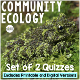 Community Ecology Quiz Set