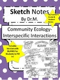 Community Ecology Sketch Notes W/Teacher Guide, Notes & St