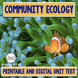 Community Ecology Unit Test