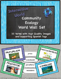 Community Ecology Word Wall with Spanish Tags