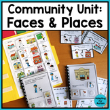 Community Helpers and Places Unit for Special Education and Autism
