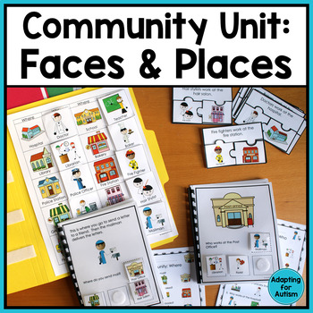 Community Helpers and Places Unit (Autism and Special Education)