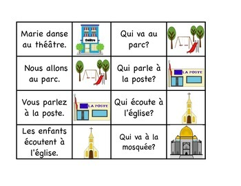 "Community - 32 French Race Card Game "" I have, who has"" French Oral communicatio"