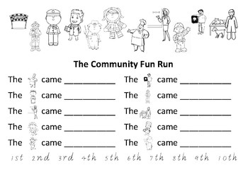 Community Fun Run- Ordinal Number