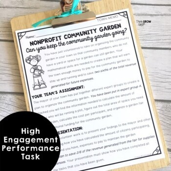 Build a Garden Math Performance Task