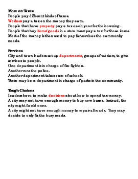 Community Government Note Taking Sheet WITH KEY