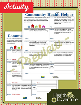 Community Health Helper - Lesson Plan