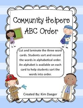 Community Helper ABC Order