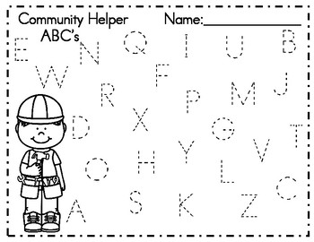 Community Helper ABC Trace