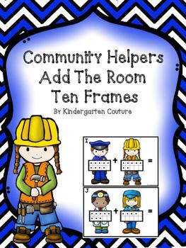 Community Helper Add The Room -Ten Frames