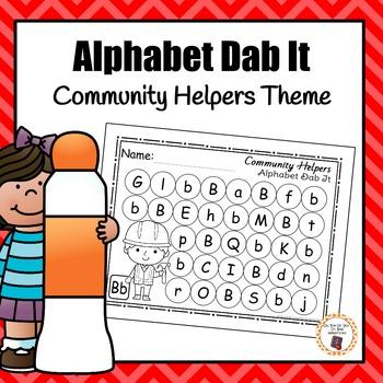 Community Helper Alphabet Dab It Worksheets