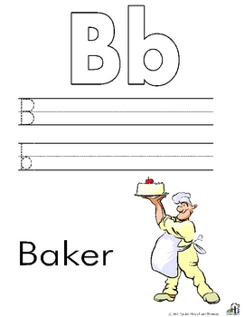 Community Helper Alphabet Writing
