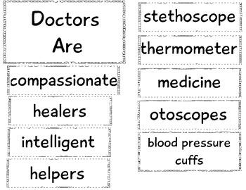 Community Helper Anchor Chart: Doctor