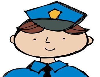 Community Helper Anchor Chart: Police Officer