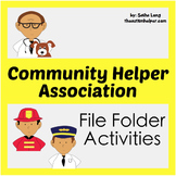 Community Helper Association File Folder Activities