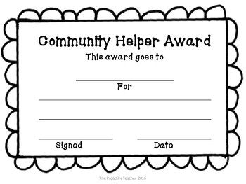 Community Helper Award