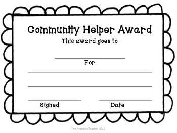 Community Helper Award