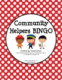 Community Helper BINGO - Polka Dot Theme