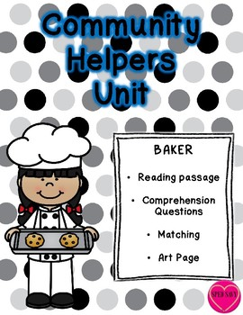 Community Helper Packet - Baker