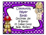 Community Helper Bingo Classroom Set 30 Unique Boards & Calling Cards