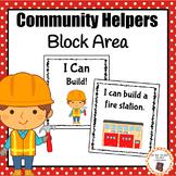 "Community Helper Block Area ""I Can Build"" Cards"