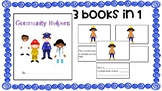 Community Helper Book - 3 Levels (Great for ELs)
