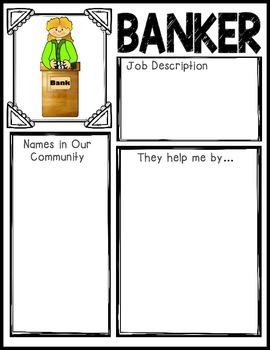 Community Helpers Graphic Organizers